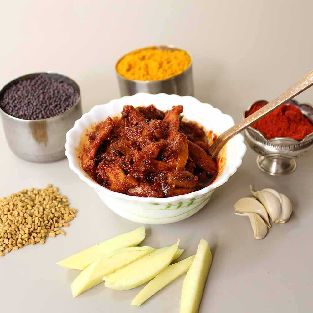 Maagai / Mango Slices Pickle / Achar - Andhra Style